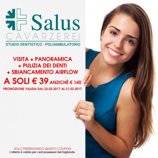 Visita odontoiatrica con panoramica e pulizia dei denti, sbiancamento airflow a soli 39,00 € anzichè 140,00 €